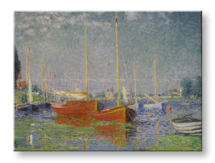 Reprodukcije RED BOATS AT ARGENTEUIL - Claude Monet