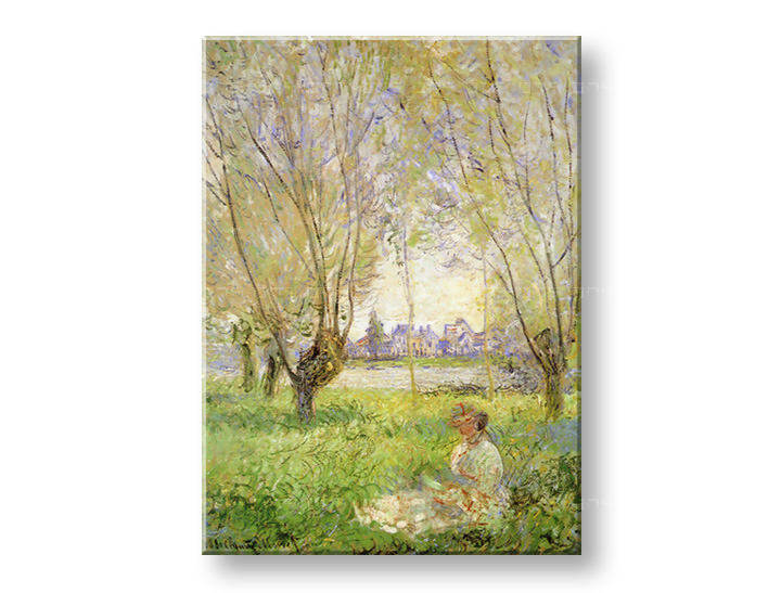 Reprodukcije WOMAN UNDER THE WILLOWS - Claude Monet