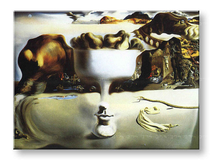 Reprodukcije APPARITION ON FACE AND FRUIT DISH ON A BEACH - Salvador Dalí
