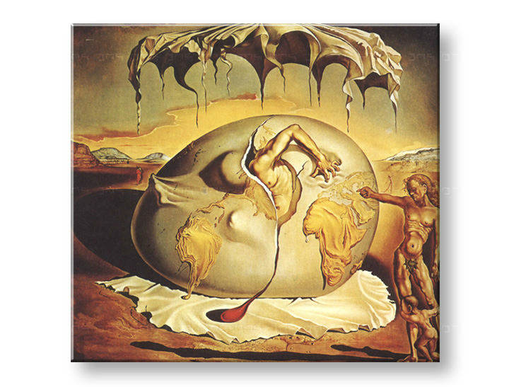Reprodukcije GEOPOLITICUS CHILD WATCHING THE BIRTH OF NEW MAN - Salvador Dalí