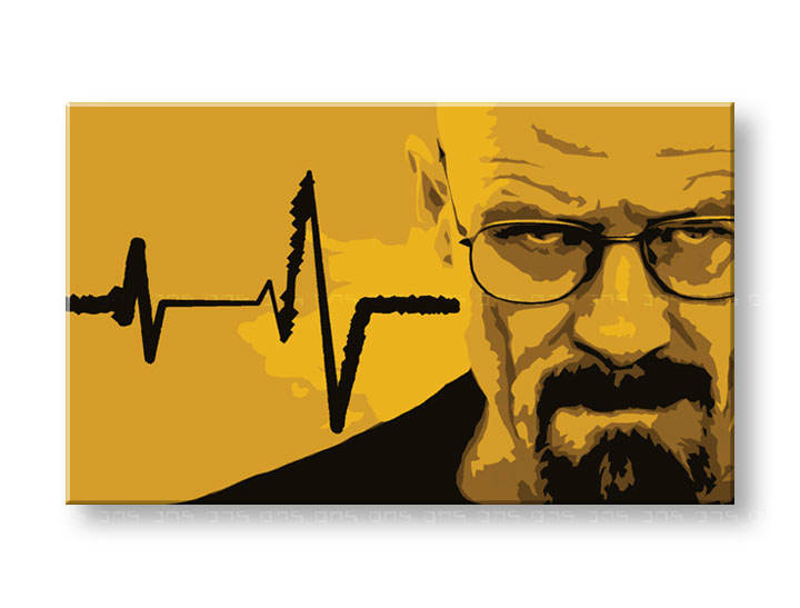 Ručno slikane slike na platnu Pop Art BREAKING BAD 1-delne 120x80cm