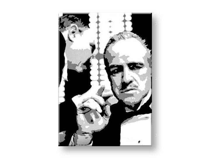 Ručno slikane slike na platnu Pop Art GODFATHER 1-delne 70x100cm