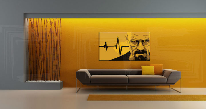 Ručno slikane slike na platnu Pop Art BREAKING BAD 1-delne