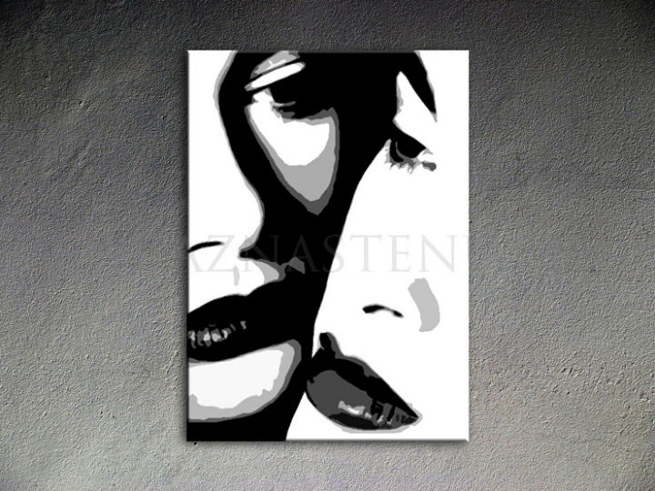 Ručno slikane slike na platnu Pop Art Two women 1-delne 70x100cm