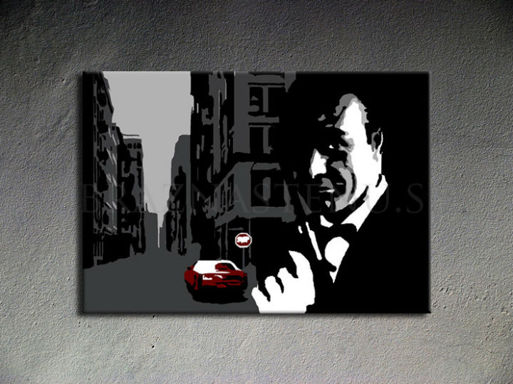 Ručno slikane slike na platnu Pop Art James Bond 1-delne 100x70cm