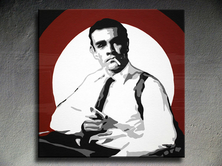 Ručno slikane slike na platnu Pop Art James Bond 1-delne 100x100cm