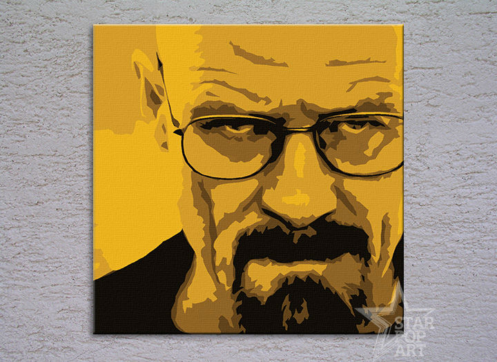 Ručno slikane slike na platnu Pop Art Breaking Bad 4-delne 100x100cm