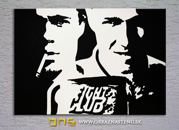 Ručno slikane slike na platnu Pop Art Fight Club 100x80 cm