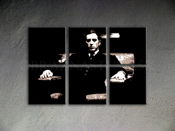 Ručno slikane slike na platnu Pop Art Godfather 6-delne 150x100cm