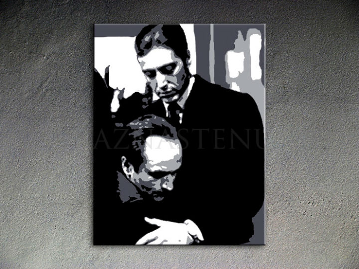 Ručno slikane slike na platnu Pop Art Godfather 1-delne 80x100cm