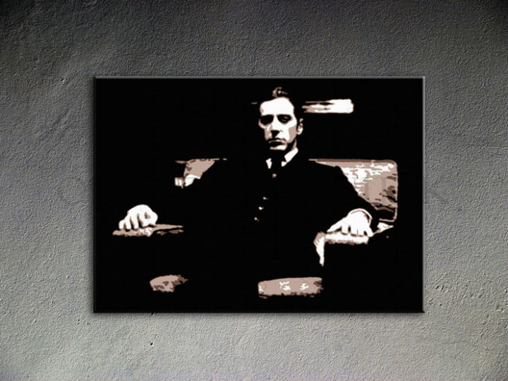 Ručno slikane slike na platnu Pop Art Godfather 1-delne 100x70cm