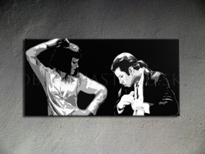 Ručno slikane slike na platnu Pop Art Pulp Fiction 1-delne 100x50cm