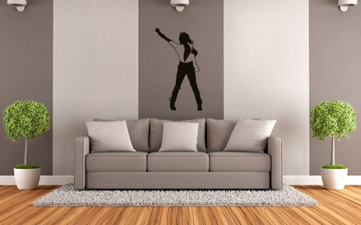 >Black Friday 60%< Stikeri za zid MICHAEL JACKSON 50x100 cm NAMJ002/24h - bela boja