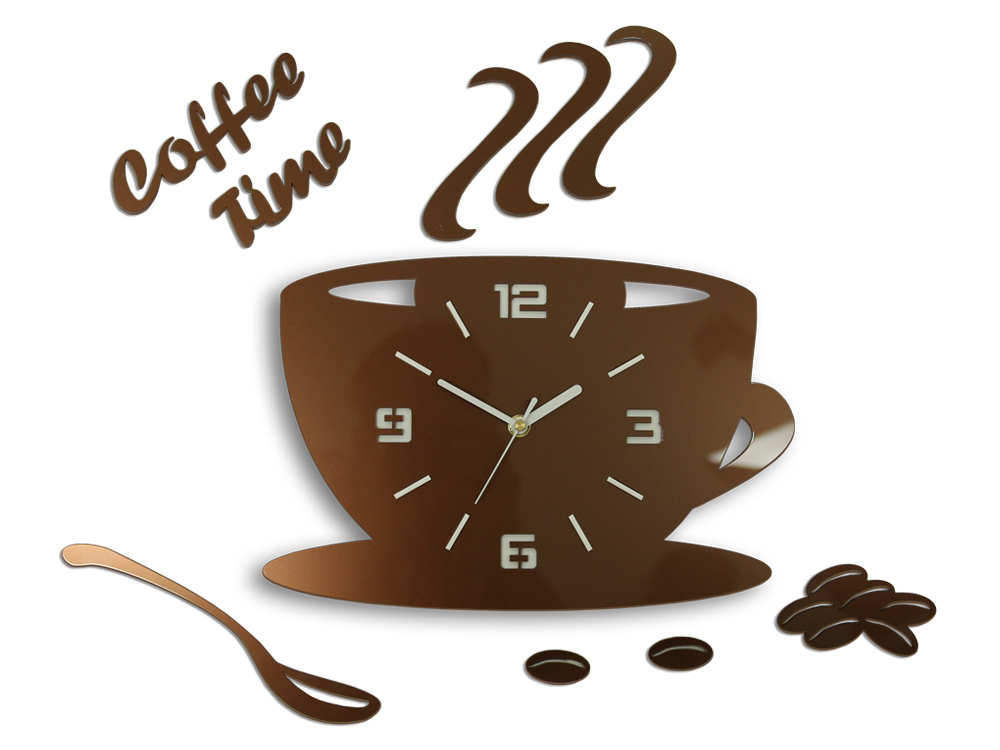 Zidni satovi COFFE TIME 3D COPPER HMCNH045-copper